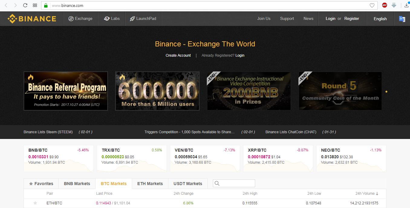 Рис. 7. binance.com