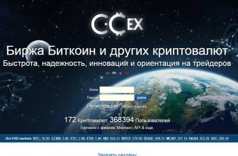 Обзор криптовалютной биржи CCEX: особенности, недостатки и рекомендации