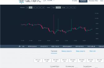 GetBTC: обзор биржи криптовалют от регистрации до торговли с TradeBot